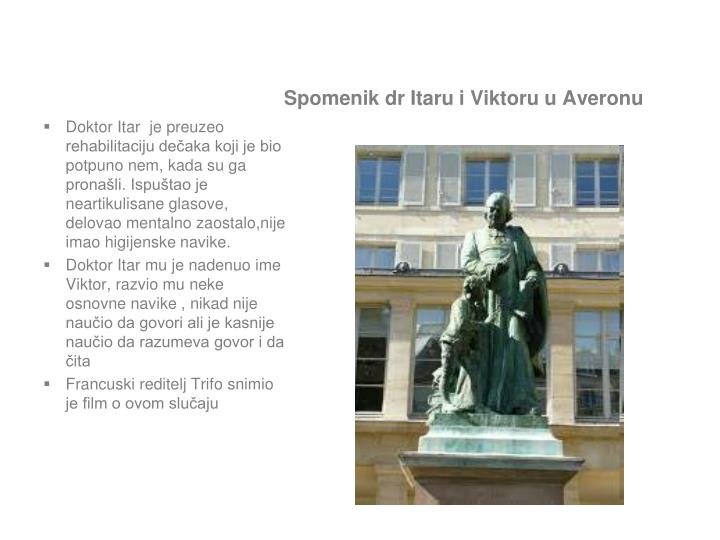 Spomenik dr Itaru i Viktoru u Averonu