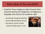 main ideas of the new moa1