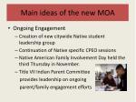 main ideas of the new moa6