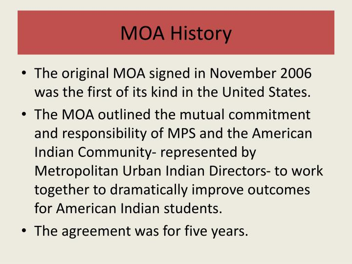 MOA History
