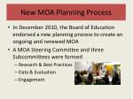 new moa planning process