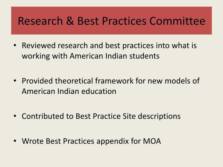 Research & Best Practices Committee