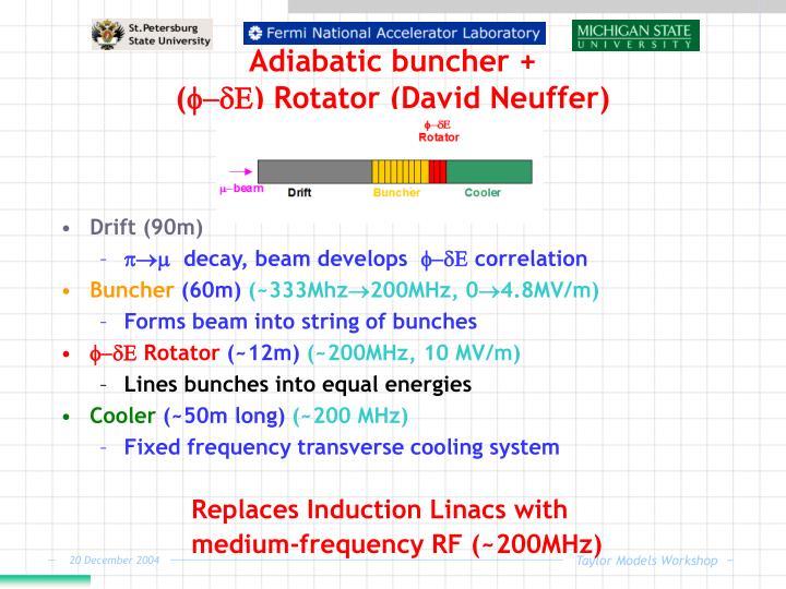 Adiabatic buncher +