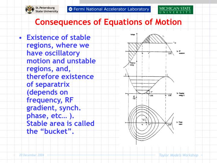 Consequences of Equations of Motion