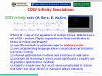 cosy infinity simulations