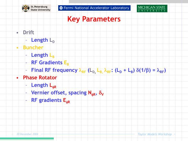 Key Parameters