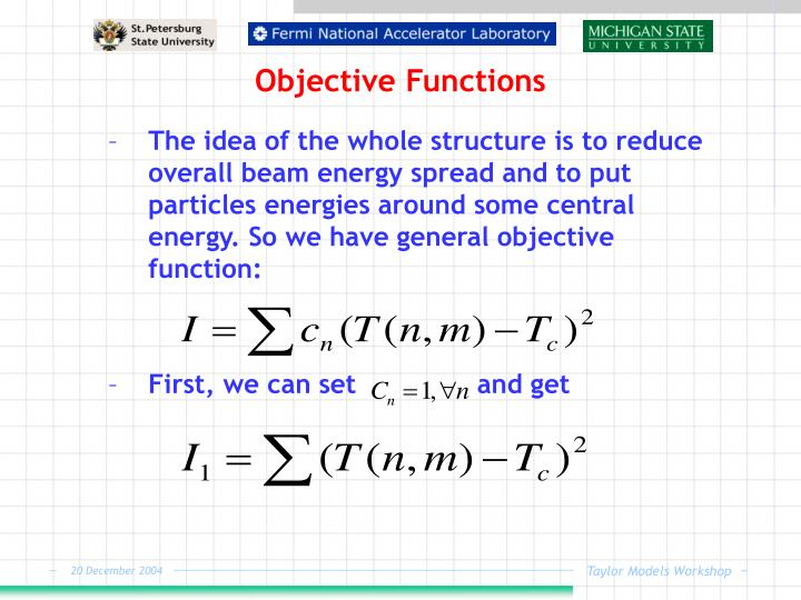 Objective Functions