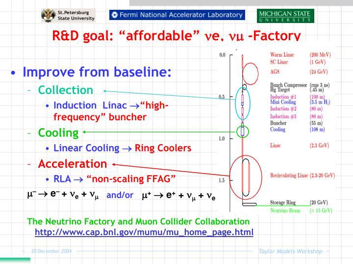 "R&D goal: ""affordable"" e,  -Factory"
