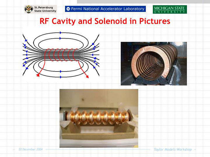 RF Cavity and Solenoid in Pictures