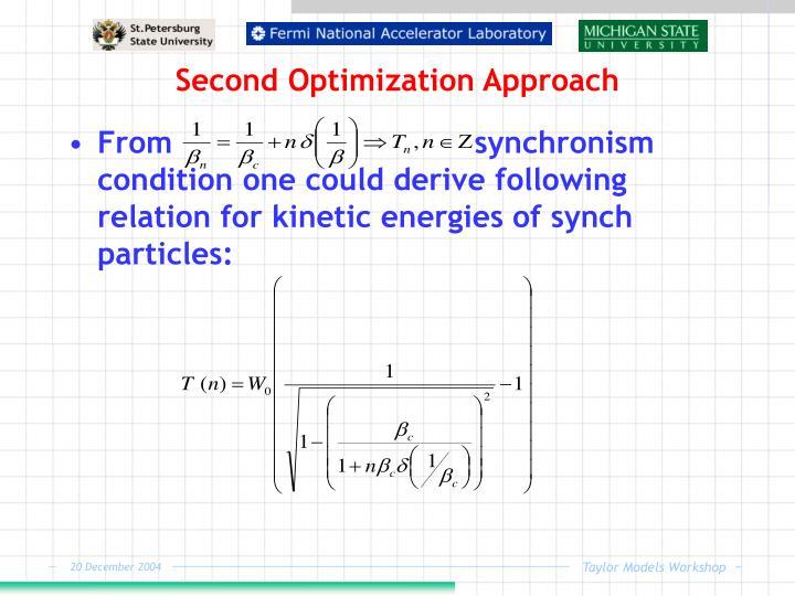 Second Optimization Approach