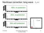 nonlinear correction long wave
