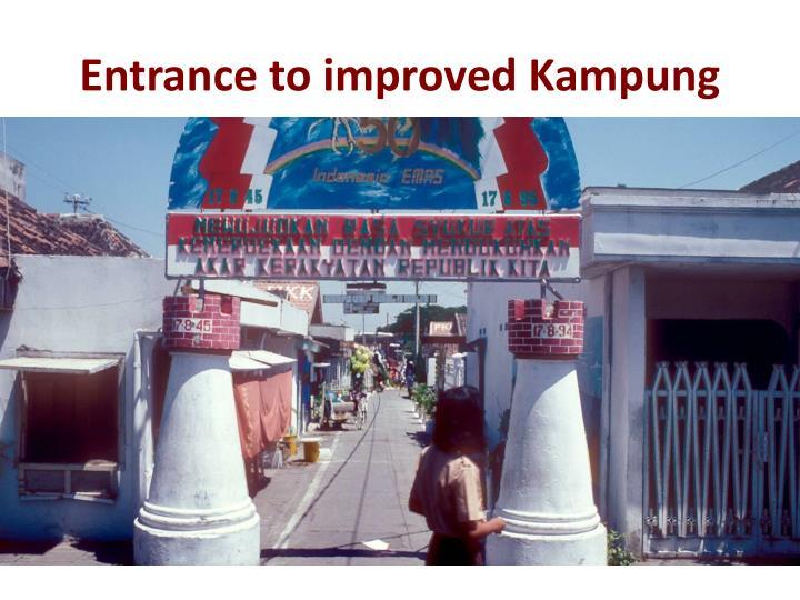 Entrance to improved Kampung