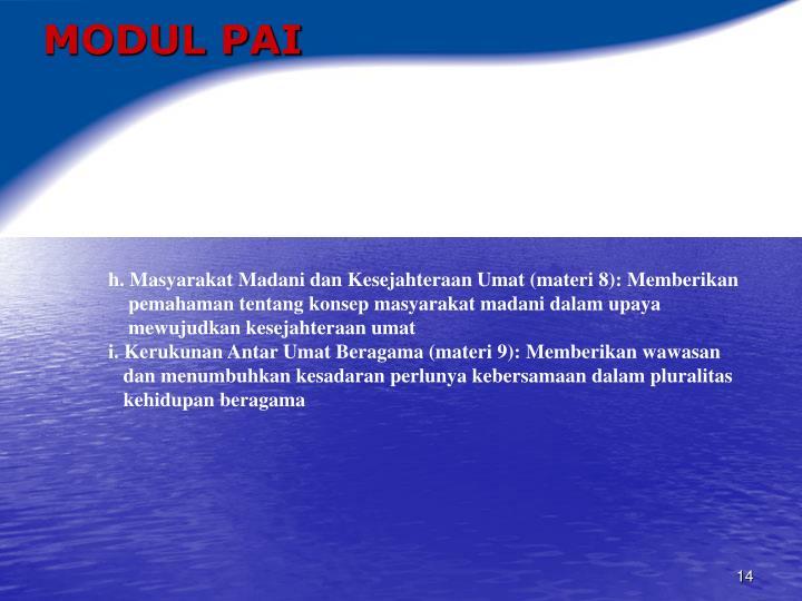MODUL PAI
