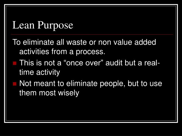 Lean Purpose