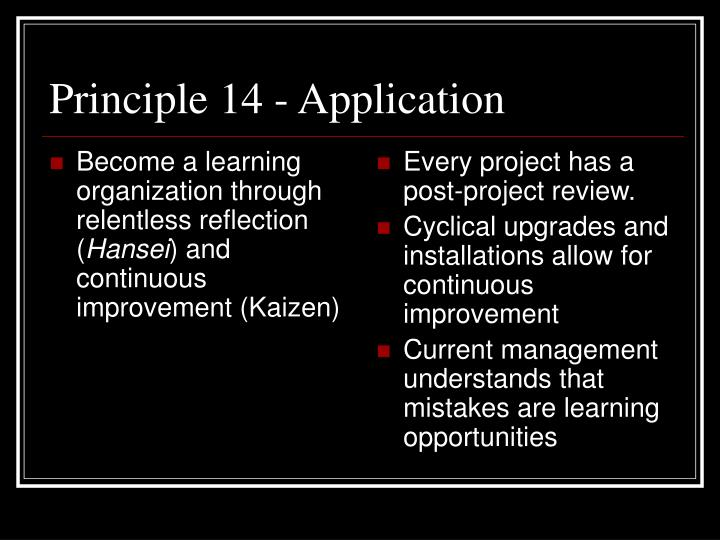 Become a learning organization through relentless reflection (