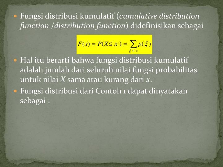 Fungsi distribusi kumulatif (
