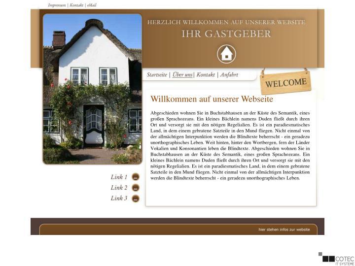 Willkommen auf unserer Webseite