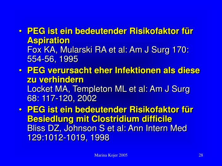 PEG ist ein bedeutender Risikofaktor für Aspiration