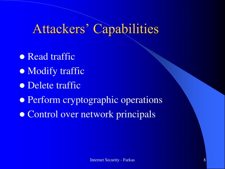 Attackers' Capabilities