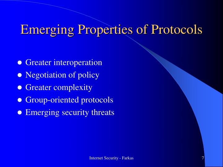 Emerging Properties of Protocols