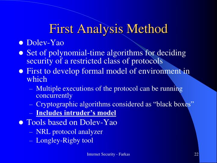 First Analysis Method