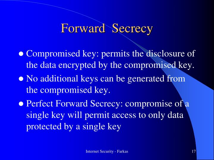 Forward  Secrecy