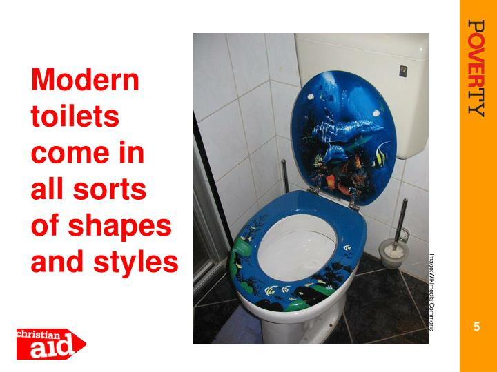 Modern toilets come in all sorts of shapes and styles