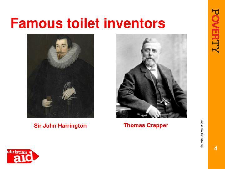 Famous toilet inventors