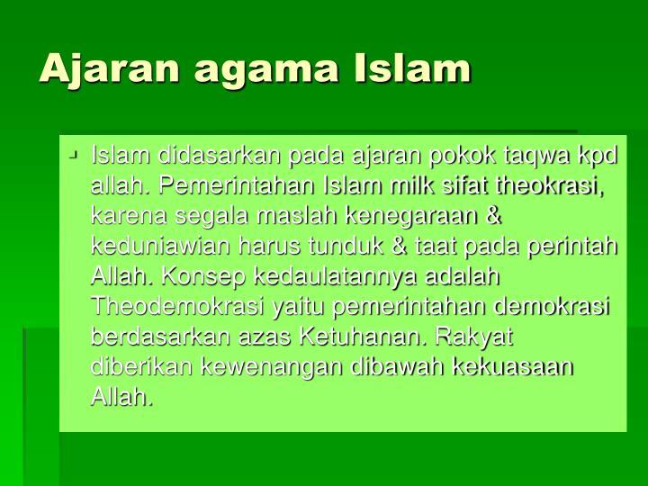 Ajaran agama Islam
