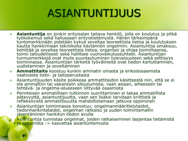 ASIANTUNTIJUUS
