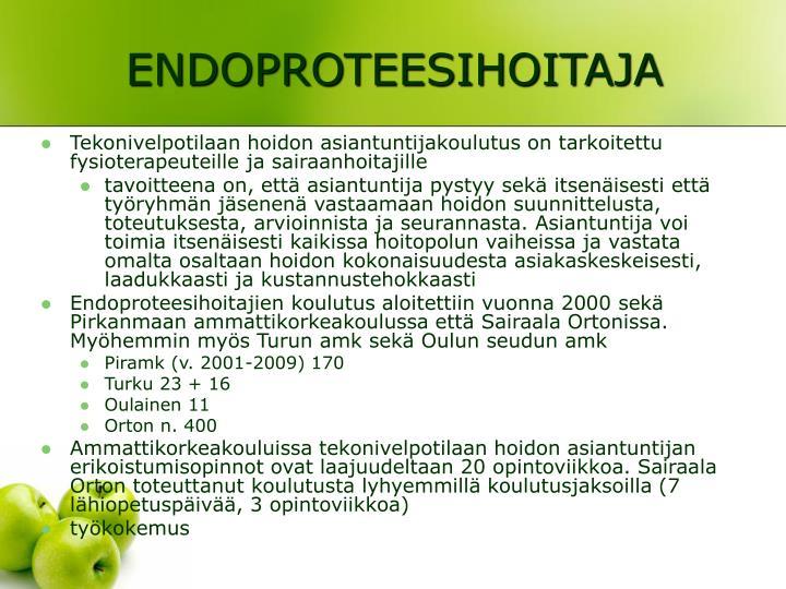 ENDOPROTEESIHOITAJA