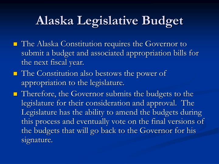 Alaska Legislative Budget