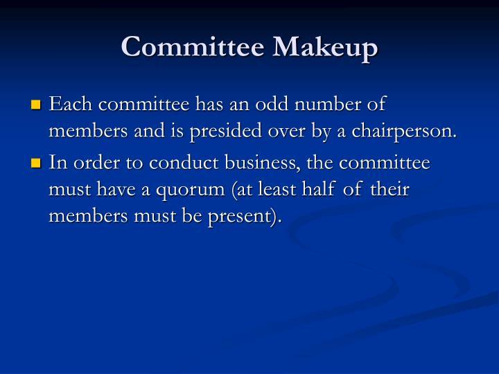 Committee Makeup
