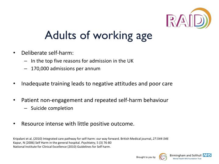 Adults of working age