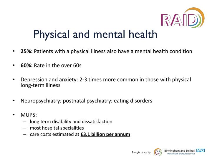 Physical and mental health