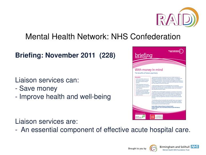 Mental Health Network: NHS Confederation