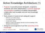 active knowledge architecture 1