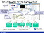 case model driven applications