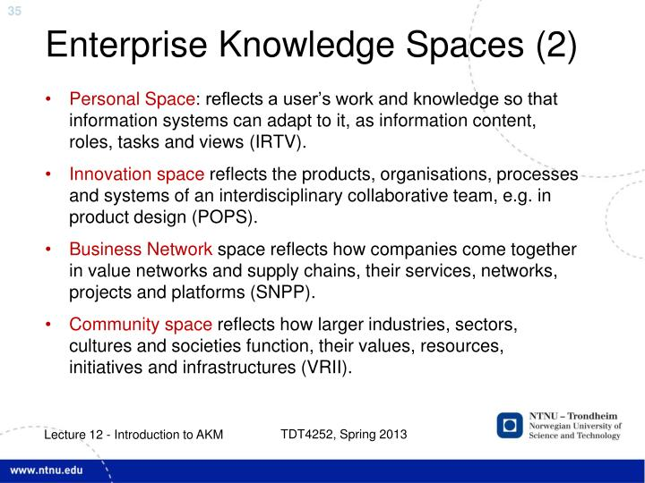 Enterprise Knowledge Spaces (2)