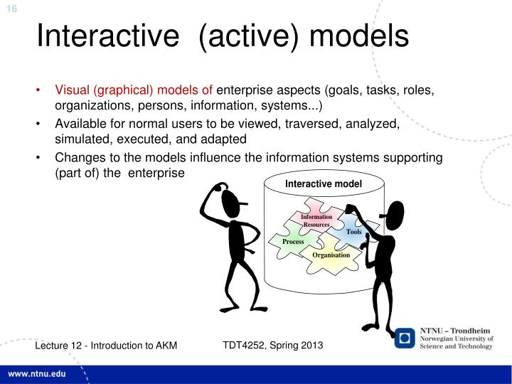 Interactive  (active) models