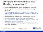 limitations with current enterprise modelling approaches 1