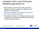 limitations with current enterprise modelling approaches 2