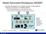 model generated workplaces mgwp