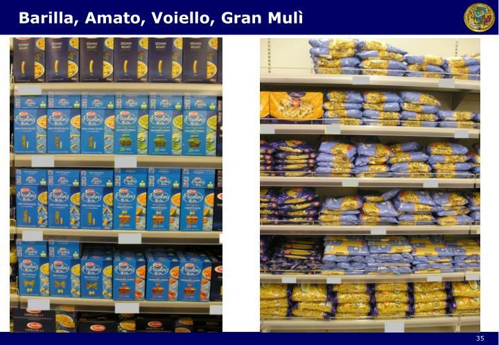 Barilla, Amato, Voiello, Gran Mulì