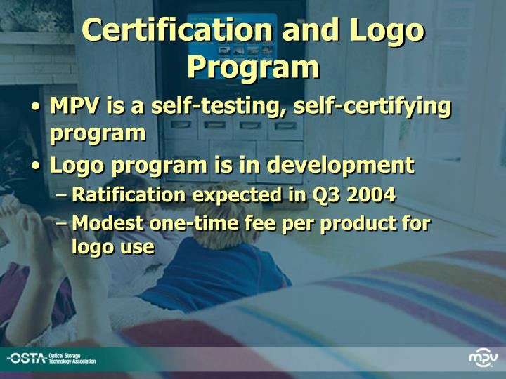 Certification and Logo Program