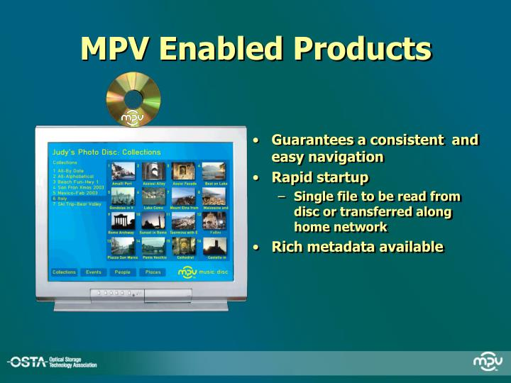 MPV Enabled Products