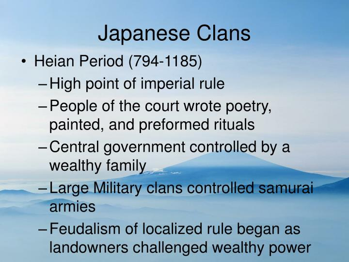 Japanese Clans