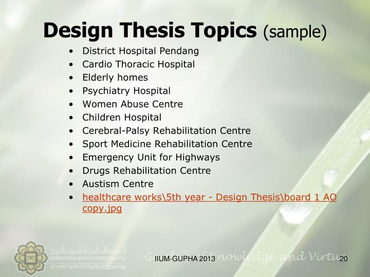 Design Thesis Topics