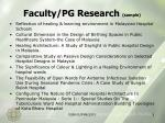 faculty pg research sample