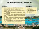 iium vision and mission